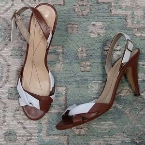 Kate Spade Brown and White Heels
